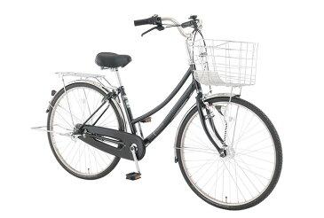 【お店受取り送料無料】 トップバリュ (TOPVALU) LEDオートライト付きベーシック自転車 ファミリータイプ-B ブラック 内装3段変速 27型 通勤 通学 自転車