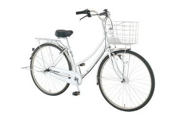 【お店受取り送料無料】 トップバリュ (TOPVALU) LEDオートライト付きベーシック自転車 ファミリータイプ-B シルバー 内装3段変速 27型 通勤 通学 自転車