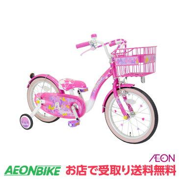 5/9 20:00からエントリーでポイント最大16倍!【お店受取り送料無料】 アイデス (ides) 16インチ ミニーマウス Poppin' Ribbon 16 ポッピンリボン 16型 変速なし 子供用自転車