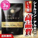 シトルリン アルギニン 亜鉛 マカ 『ソルエナジー 3個セット』 〈薬剤師監修〉 送料無料 栄養機能食品 サプリ 1ヶ月分 男性 エナジー自信 活力 増大 solenergy ※精力剤ではありません