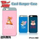 TOM AND JERRY CARD BUMPER CASE 【DM便送料無料】iPhone x カード収納ケース トムとジェリー……