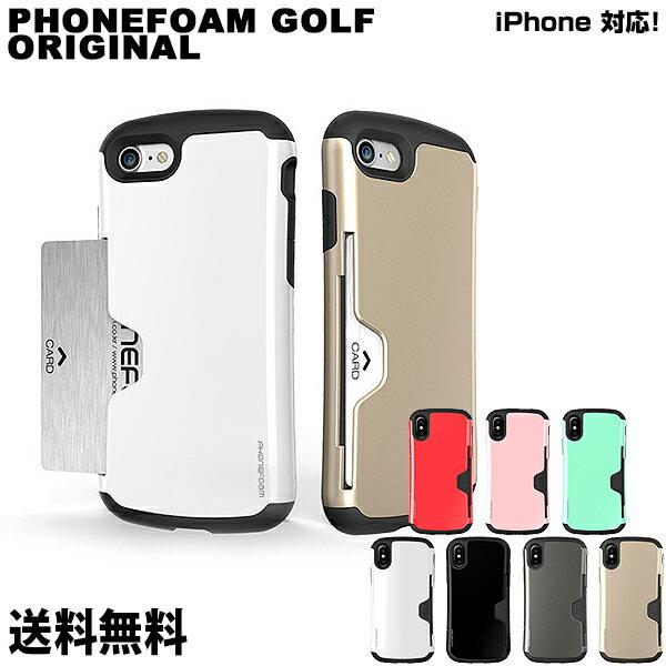 スマートフォン・携帯電話アクセサリー, ケース・カバー PHONEFOAM GOLF ORIGINAL iPhoneX ic iPhone iPhoneX iPhone8 iPhone7 iPhone6 iPhone5 5 6 6s 7 8 X