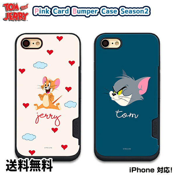 スマートフォン・携帯電話アクセサリー, ケース・カバー TOM AND JERRY PINK CARD BUMPER CASE SEASON2DMiPhone x iPhoneiPhone iPhoneX iPhone8 iPhone7 iPhone6 6 6s 7 8 X