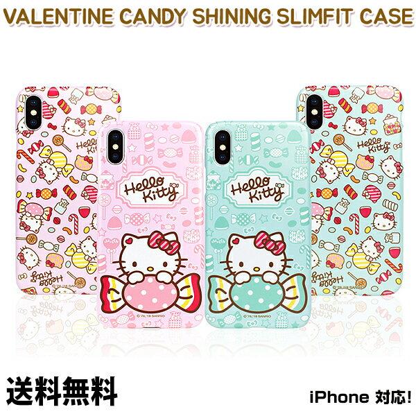 スマートフォン・携帯電話アクセサリー, ケース・カバー Hello Kitty Valentine Candy Shining Slim Fit Case iPhone iPhone8 iPhone7 7 8