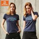 The First Outdoor ネイビー ロゴ 紺 Tシャツ TFO-613752 レディース S-XL 透湿 UVカット 柔らか生地 毛玉できにくい加工 アウトドア レジャー 普段着 半袖 ゴルフ ウェア プレゼント 贈り物 ax アエトニクス