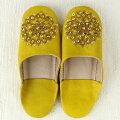 バブーシュビーズスパンコールS13黄(粉)×ゴールド×ゴールド