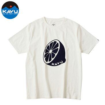 カブー メンズ Tシャツ 半袖 レモン ホワイト 即納 (メール便送料無料) KAVU Lemon Tee
