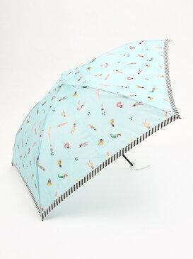 [Rakuten BRAND AVENUE]スイマー柄軽量折りたたみ傘 雨傘 Afternoon Tea アフタヌーンティー・リビング ファッショングッズ