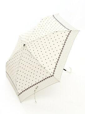 [Rakuten BRAND AVENUE]ドットフラワー柄折りたたみ傘 Afternoon Tea アフタヌーンティー・リビング ファッショングッズ