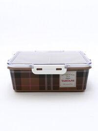 [Rakuten Fashion]タータンチェック柄角型3段コンパクトランチボックス Afternoon Tea アフタヌーンティー・リビング 生活雑貨 キッチン/ダイニング レッド【送料無料】