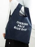 CHERISH PALE BLUE DOT/エコバッグM Afternoon Tea アフタヌーンティー・リビング 生活雑貨 キッチン/ダイニング ネイビー グリーン ピンク ホワイト ベージュ ブルー[Rakuten Fashion]
