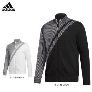 アディダス メンズ ストライプ柄 長袖 フルジップ セーター INS52 ゴルフウェア [2020年秋冬モデル] 【あす楽対応】