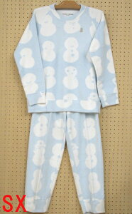 【tsumori chisato sleep】ツモリチサト~雪だるま~裏綿フリースパジャマ M・Lサイズ