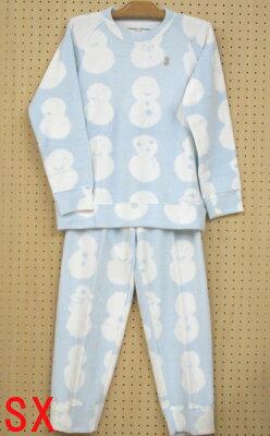 【tsumori chisato sleep】ツモリチサト〜雪だるま〜裏綿フリースパジャマ M・Lサイズ