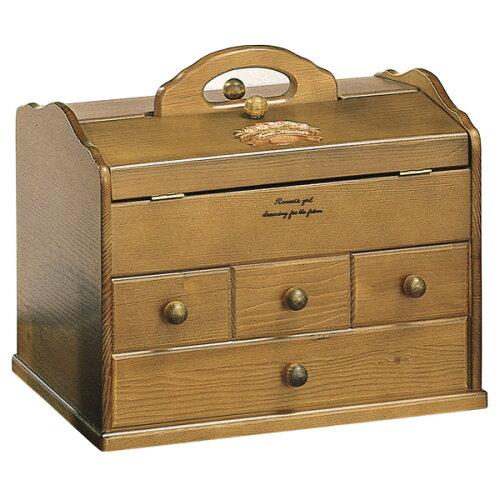 天然木を使用したお洒落な木製ソーイングボックス 裁縫箱 おし...