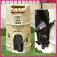 送料無料♪ 傘立て 猫♪ 黒ネコがワンポイントの可愛いレストラン調の傘立て/SCZ-0416 【かわいい/アンブレラスタンド/傘たて/かさ立て/カサ立て/送料込み】