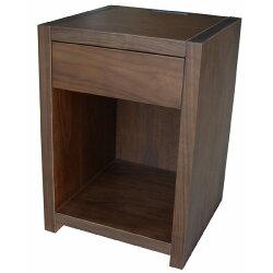 【送料無料】ウォールナットの木目が綺麗なナイトテーブルサイドテーブル