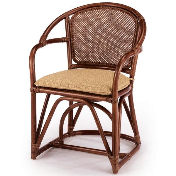 代引き不可【送料無料】天然の素材を使用した上質な籐のアームチェアーアジロ編 ラタンチェアー A-38D 天然素材を使用した優しい色合いで丈夫な籐のラタンチェアーラタン チェア アームチェアー 椅子 いす 敬老の日 イス 幅59 高さ82