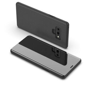 Samsung Galaxy Note9 ケース/カバー 2つ折り 液晶保護 パネル 半透明 サムスン ギャラクシー ノート9 ケース/カバー おすすめ おしゃれ アンドロイド スマフォ スマホ スマートフォンケース/カバー