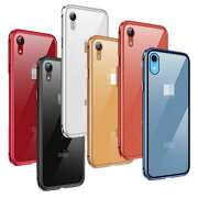 AppleiPhoneXRケース/カバーアルミバンパークリア透明強化ガラス液晶保護背面強化ガラス背面パネル付きマグネット装着かっこいいXRアルミサイドバンパーアップルおすすめおしゃれスマホケース/カバー