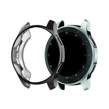 Samsung Galaxy Watch ケース/カバー メッキ 46mm/42mm TPU メタル調 鏡面加工 ギャラクシーウォッチ ソフトカバー