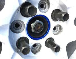和広螺子ツバ付きハブリング外径65mm-内径56.1mmアルミ製4個セットスバル5H/PCD100114.3