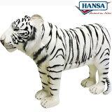 HANSA 3718 ホワイトタイガー125 全長:125cm WHITE TIGER BH3718 ぬいぐるみ ハンサ 虎 クリスマス 誕生日 プレゼント 動物 犬 猫 鳥 うさぎ ペンギン アニマル 置物 人形 フィギュア KOESEN ケーセン カロラータ 大きい マスコット 実物大 大型