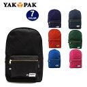 YAKPAK ヤックパック バッグ リュック YP0002 ゴールドファスナーデザイン デイバッグ パック バックパック 全7カラー 男女兼用 ag-724600