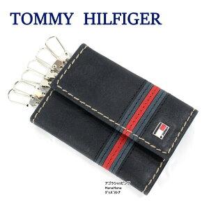 10d8cff3e71d トミー・ヒルフィガー(Tommy Hilfiger). トミーヒルフィガー キーケース 31TL17X006 ラインデザイン レザー 6連 ...