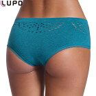 EXLUPO40084(ルポ)ブラジリアンカットショーツ女性インナー下着ストレッチタグ無し無地パンティーショーツパンツ無地穴あきギャザー