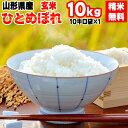 【送料無料】令和元年度産 山形県産 お米ひとめぼれ 玄米 10kg (10kg袋×1)【白米・無洗米・分づき】