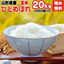 【送料無料】令和元年度産 山形県産 お米ひとめぼれ 玄米 20kg(10kg袋×2)【白米・無洗米・分づき】