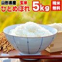 【送料無料】令和元年度産 山形県産 お米ひとめぼれ 玄米 5kg【白米・無洗米・分づき】