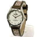 コーチ 時計 レディース COACH アウトレット ウイメンズ ブラウン レザー シグネチャー ロゴ ストラップ ウォッチ レディス / 腕時計 14502332 n70707