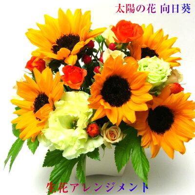 花 ギフト 生花 ひまわり アレンジメント