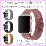 ミラネーゼループ アップルウォッチ applewatch オシャレ カワイイ