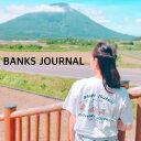 BANKS JOURNAL バンクス ジャーナル Tシャツ tシャツ Tee shirt ロゴ スタイリッシュ オーガニック mountai...