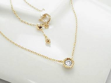 K18 ゴールド 0.1ct H〜Fカラー/SIクラス ダイヤモンド ネックレス「Catenare - カテナーレ - 」18...