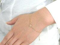 【送料無料】『Catenare』0.1ctホワイトカラーダイヤモンドK18ゴールドクラシカルブレスレット