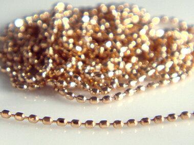 K18 ゴールド レーザーカットボール チェーン ネックレス 0.8(幅0.8mm)「 - ルミーニ - 」全長40cm...