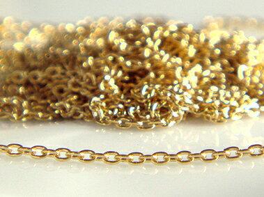 K18 ゴールド 丸小豆 チェーン ネックレス 0.25(幅0.9mm)「 - イリーデ - 」全長40cm 18K 18金 YG ...
