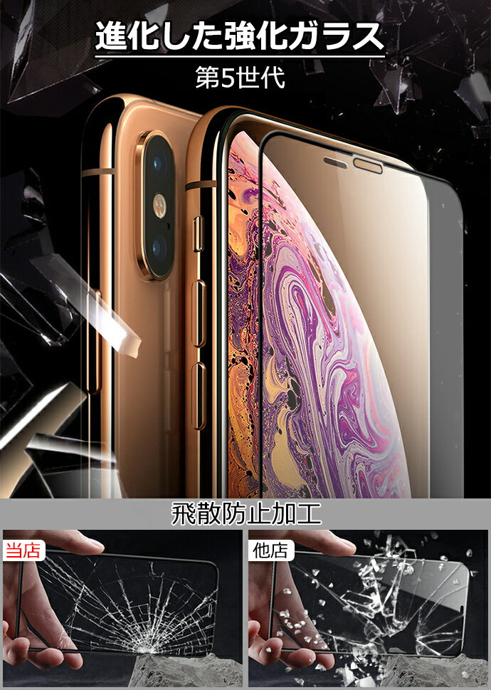 【着後レビューでケーブルプレゼント】[最新第5世代型 淵まで覆う]30日保証 ガラスフィルム iPhone XR iPhone8 iPhone Xs Max iPhone X iPhone Xr Xs Max X iPhone8 iPhone7 iPhone6s ブルーライトカット 強化ガラス 保護フィルム 全面保護 強化ガラスフィルム 590