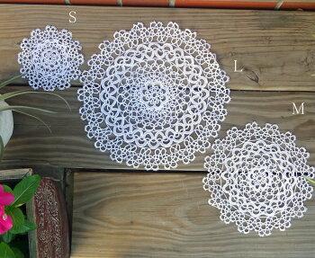 NEWあす楽★大人可愛い手編希少サイズ3種『タティングレーステーブルセンター』ドイリーに綿100%上質おしゃれです
