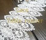 【24x150cm】真っ白細糸仕様の『テーブルランナー』下駄箱テーブル出窓棚板チェストの上に飾って楽しめる【HLS_DU】