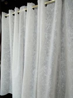 1枚に1個NEWお花クリップ付★『浴室カフェカーテン』【送料無料】バスルームの寒さ対策に小窓用【HLS_DU】