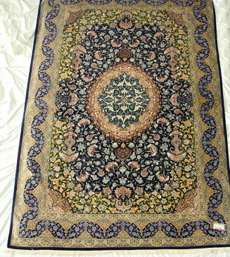 ペルシャ絨毯 サイズ:295×196 産地:クム 作者:アーマディ 材質:シルク【送料無料】【同梱不可】【RCP】【店頭受取対応商品】