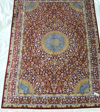 ペルシャ絨毯 サイズ:300×202 産地:クム 作者:アーマディ 材質:シルク【送料無料】【同梱不可】【RCP】【店頭受取対応商品】