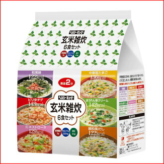 Six meals of unpolished rice porridge of rice and vegetables set ♪ low calorie diet food ♪ low Karo porridge of rice and vegetables (low Karo porridge of rice and vegetables) fs3gm
