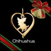 (チワワ)材質ゴールドドッグモチーフのネックレス(クリスマスプレゼント,ドッグネックレス,愛犬ネックレス,アクセサリー,ジュエリー) 【楽ギフ_のし宛書】【RCP】