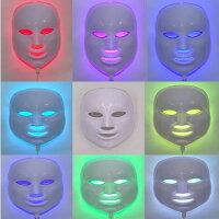 美顔器マスク家庭用シミくすみニキビ光エステLEDマスクコラーゲン毛穴しわ乾燥肌弾力ハリ老化防止ほうれい線美肌スキンケアSKINCAREOPTIONS7色LED美容マスク【送料無料迅速発送】